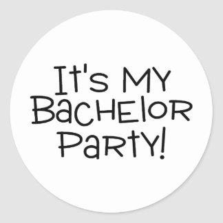 Its My Bachelor Party Groom Classic Round Sticker