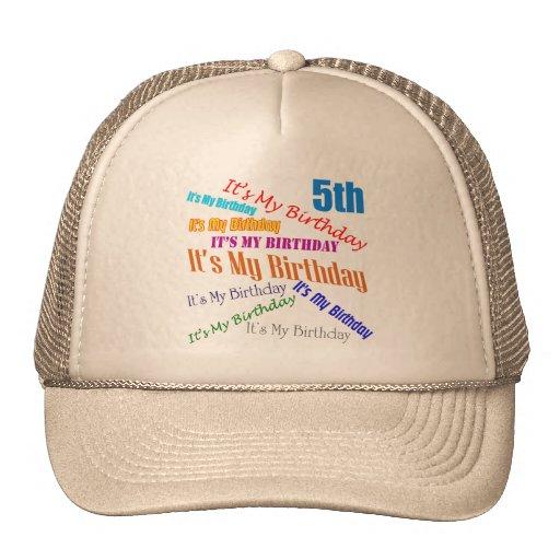 It's My Birthday 5th Birthday Gifts Hat