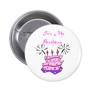 It's My Birthday 6 Cm Round Badge