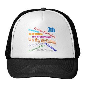 It's My Birthday 7th Birthday Gifts Hats