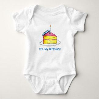 It's My Birthday Cake Slice Candle Happy Bday Baby Bodysuit