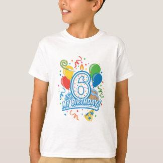 It's My Birthday! Six Years Old Boy's Tee