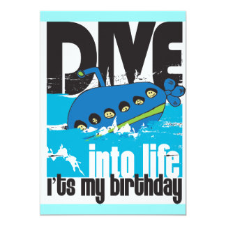 It's My Birthday Submarine Invitation