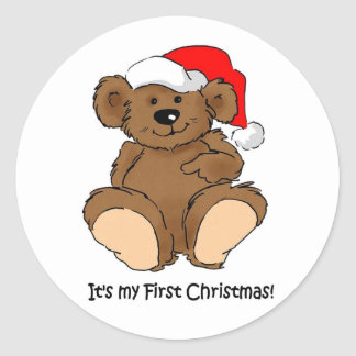 It's my First Christmas Classic Round Sticker