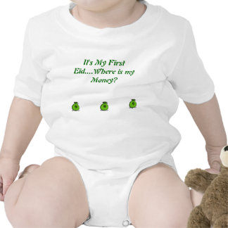 It's My First Eid for 6Months olds Tshirts