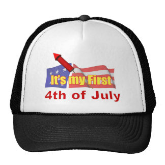It's My First Fourth of July Cap