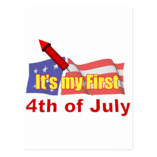It's My First Fourth of July Postcard