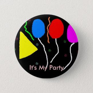 , It's My Party 6 Cm Round Badge