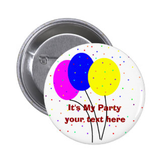 It's My Party, 6 Cm Round Badge