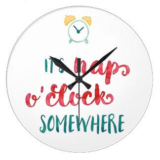 It's Nap O'Clock Somewhere Clock