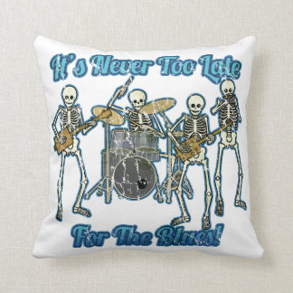 It's never too late for the blues cushions