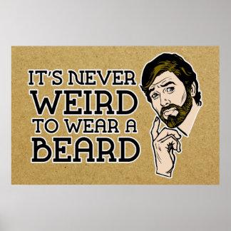 It's Never Weird To Wear A Beard Poster