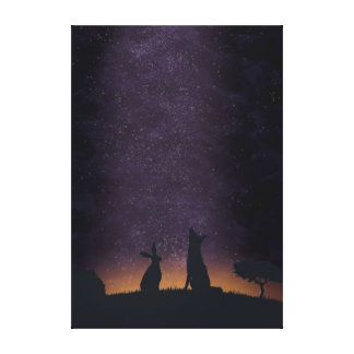 Its nice to stargaze with friends canvas print