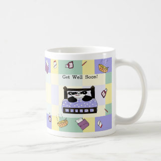 It's no fun to be sick - Get Well Soon Basic White Mug