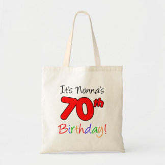 It's Nonna's 70th Birthday Fun and Colorful Tote