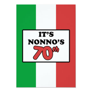 It's Nonno's 70th Birthday Italian Flag Invite