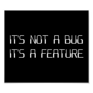 It's Not a Coding Bug It's a Programming Feature Poster