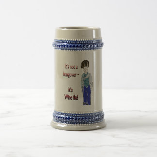 It's not a Hangover, it's Wine flu! humorous Gifts Beer Stein