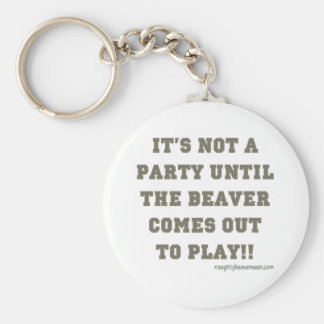It's Not A Party Until The Beaver Comes Out Basic Round Button Key Ring