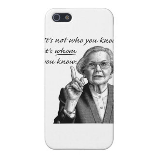 It's not who you know, it's WHOM you know. iPhone 5 Case