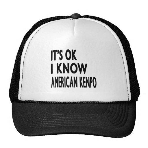 It's Ok I know American Kenpo Mesh Hats