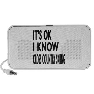 It's OK I Know Cross Country Skiing Dance Travel Speakers