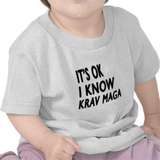 It's Ok I know Krav Maga Tee Shirt