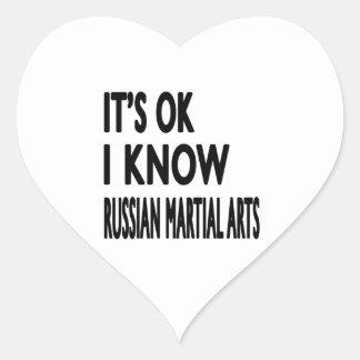 It's Ok I know Russian Martial Arts Heart Sticker