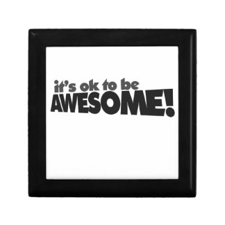 It's ok to be awesome small square gift box
