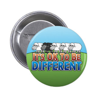It's OK to be Different BLACK SHEEP 6 Cm Round Badge