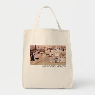 It's OK to be UNIQUE Tote Bag - Retro Modern