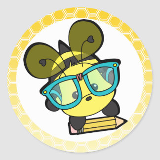 It's OK to BEE a Smarty! Classic Round Sticker