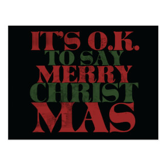 It's OK to say merry CHRISTmas Post Cards