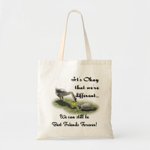 It's Okay That We're Different... Canvas Bags