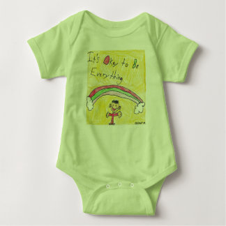 It's Okay to Be Everything One Piece Baby Bodysuit