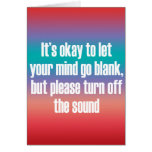 It's okay to let your mind go blank