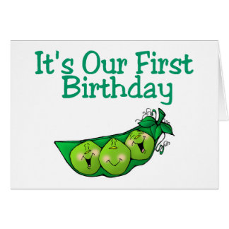 It's Our First Birthday (2) Card