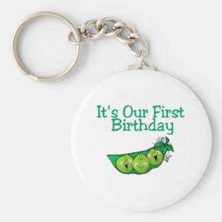 It's Our First Birthday (2) Basic Round Button Key Ring