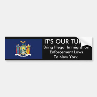 IT'S Our Turn, New York. Bumper Sticker