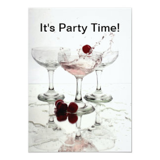 Its Party Time 13 Cm X 18 Cm Invitation Card