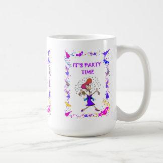 It's party time,party lady basic white mug