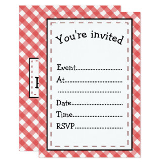 It's Party Time Red Gingham Card