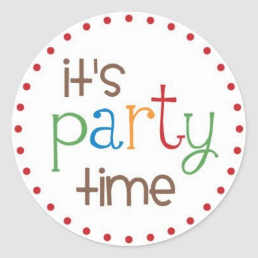 It's Party Time! Stickers