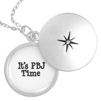 Its PBJ Time Round Locket Necklace