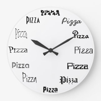 It's Pizza Time Large Clock