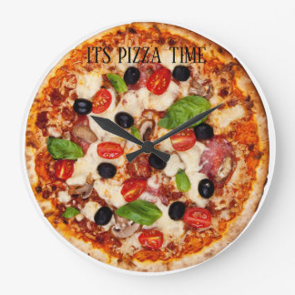 It's Pizza Time!! Large Clock