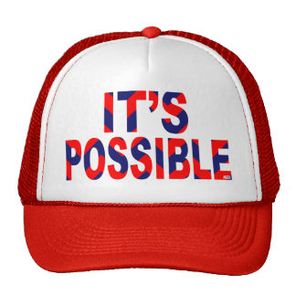 It's Possible Patriotic Chevron Trucker Hat