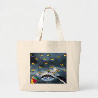 It's Raining Men! Large Tote Bag