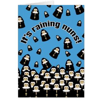 It's Raining Nuns Greeting Card