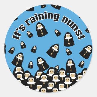 It's Raining Nuns Classic Round Sticker